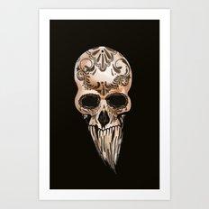 Skulll Art Print