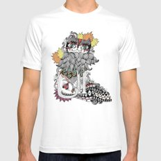 Gata Mens Fitted Tee White SMALL