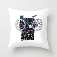 My Bicycle Throw Pillow