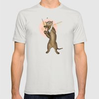 Mr. Meowgi Mens Fitted Tee Silver SMALL