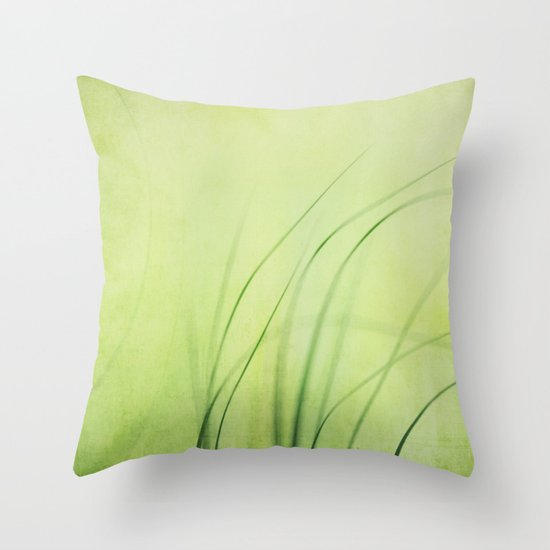 Swaying Grasses (with texture) Throw Pillow