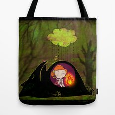 waiting for spring to arrive Tote Bag