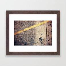 Black Star Framed Art Print