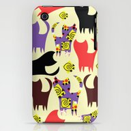 iPhone & iPod Case featuring Cats Pattern #4W by Luizavictorya72