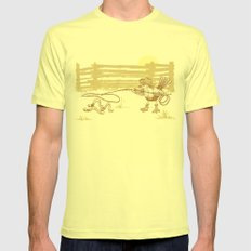Cowbird Mens Fitted Tee Lemon SMALL