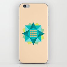 Abstract Lotus Flower - Yoga Print iPhone & iPod Skin