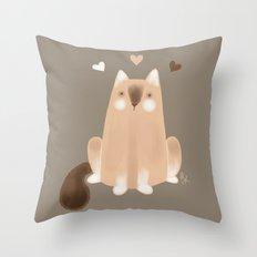S'mores Cat Throw Pillow