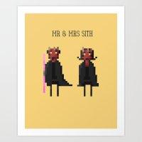 Mr & Mrs Sith Art Print