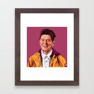 Hipstory - Ronald Reagan Framed Art Print