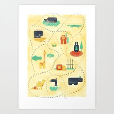 Trip to the zoo Art Print