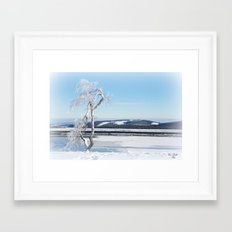 Ice Tree Framed Art Print