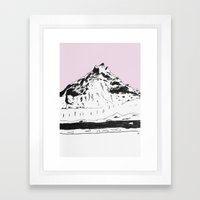 a mountain Framed Art Print