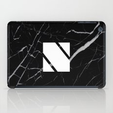 Black Marble - Alphabet N iPad Case