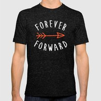 Forever Forward Mens Fitted Tee Tri-Black SMALL