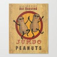 Retro peanuts Canvas Print
