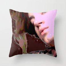 Stylized Geisha Throw Pillow