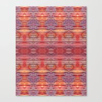 Red and Purple Watercolor Pattern Canvas Print