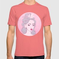Selfie Girl_9 Mens Fitted Tee Pomegranate SMALL