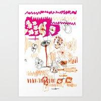 Magenta And Orange Art Print