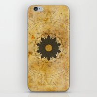 Ebony Sun Mandala iPhone & iPod Skin