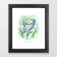 Narwaltz - Narwhal Valen… Framed Art Print