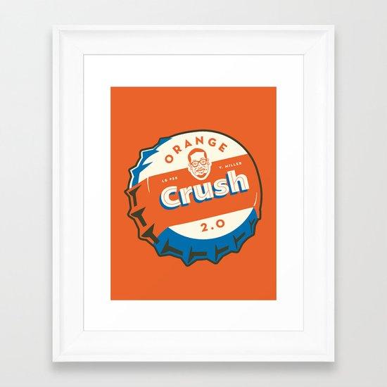 Denver's Orange Crush Defense TWO POINT OH! Framed Art Print