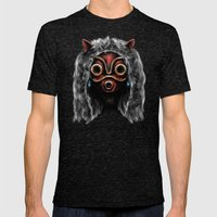 The Wolf Princess Mens Fitted Tee Tri-Black SMALL
