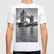 Tower Bridge, London Mens Fitted Tee Ash Grey SMALL