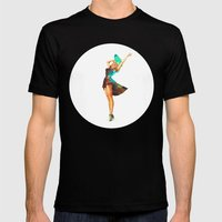Cosmic Pinup # 2 Mens Fitted Tee Black SMALL