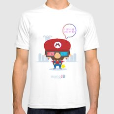 mario 3d SMALL Mens Fitted Tee White
