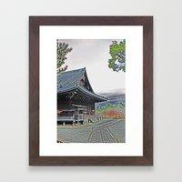Temple at Dusk Framed Art Print