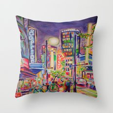 Granville At The Warehouse, Vancouver Throw Pillow