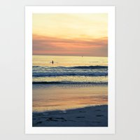 Orange Skies Art Print