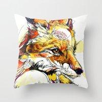 Fox Flow Throw Pillow