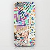 Geometric Abstract Lines Labirinth  iPhone 6 Slim Case