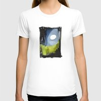 Night Path Womens Fitted Tee White SMALL