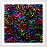 Something is Fishy Art Print