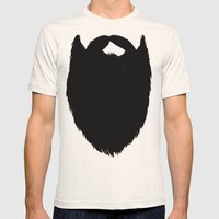 Fake Beard Mens Fitted Tee Natural SMALL