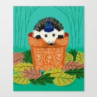 A Hedgehog's Home Canvas Print