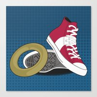 Sonic Converse - Blue Canvas Print