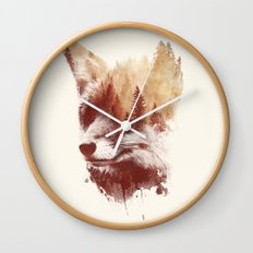 Blind fox Wall Clock