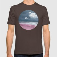 LONELY BEACH Mens Fitted Tee Brown SMALL