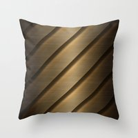 Copper Brass Metal Pipe Throw Pillow