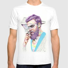 Clown on the Outside SMALL White Mens Fitted Tee