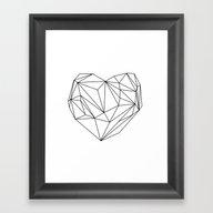 Heart Graphic (black On … Framed Art Print
