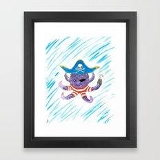 Pirate Octopus Framed Art Print