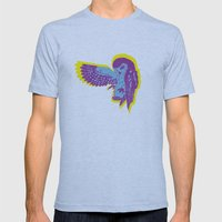 Saw-Whet Owl Mens Fitted Tee Athletic Blue SMALL