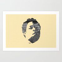 Art Print featuring Dynamik Face by Ed J.