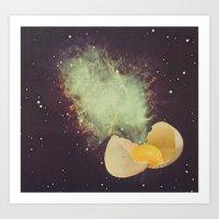 Big Bang Breakfast Art Print