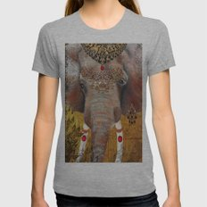 Gilded Elephant of Jaipur Womens Fitted Tee Athletic Grey SMALL